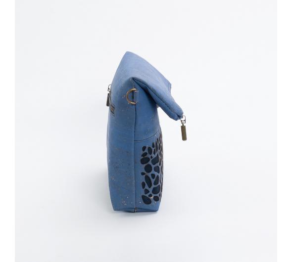 Schoudertas met Savanna patroon (blue jeans / donkerblauw)
