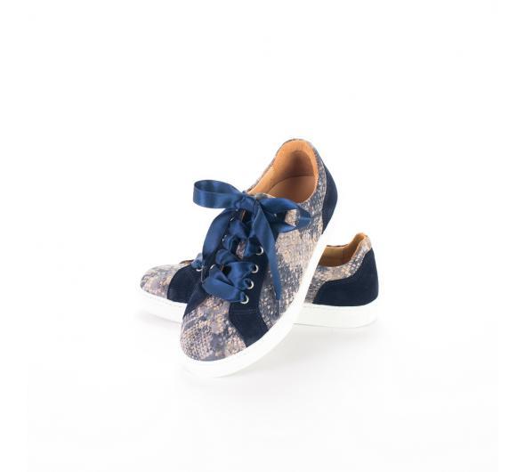 Sneakers blue snake