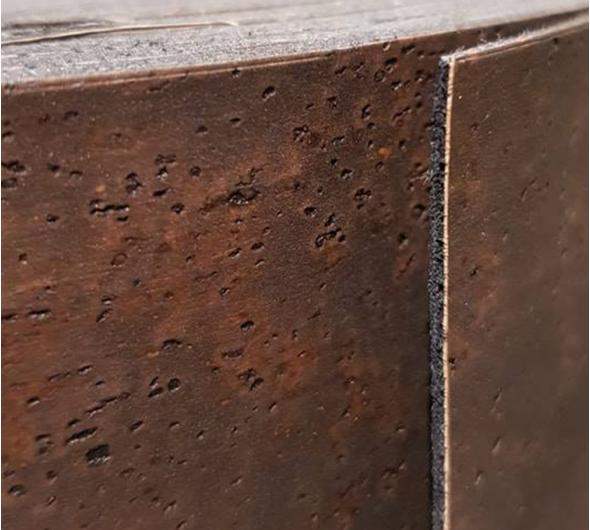Kurkleer stof bruin kurknaturel aalter