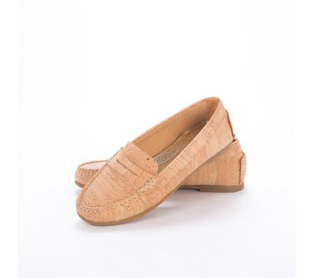 Mocassins beige dames