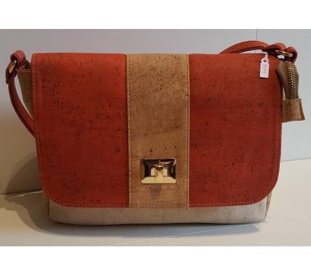 Handtas rood/beige/wit