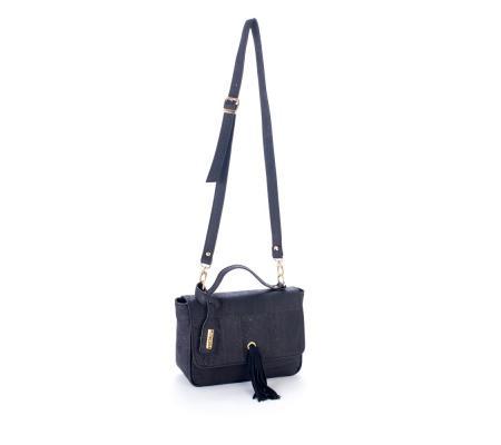 Handtas Zwart met ponpon